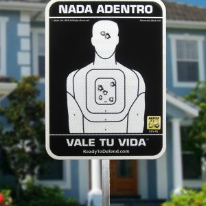 SUPER SALE! - 3M Brand Reflective Yard Sign w/ Stake - Spanish - NADA ADENTRO VALE TU VIDA™-0