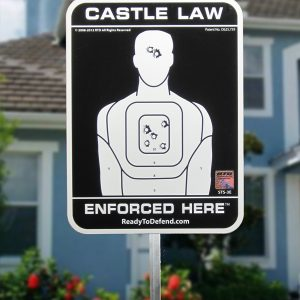 STS-3E - Castle Law Enforced Here Yard Sign - Non Ref.-0