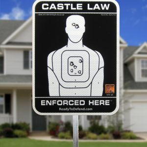 STS-3S Castle Law Enforced Here 3M Reflective Yard Sign-0