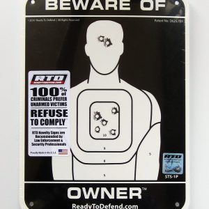 STS-1P Super-Tough Plastic Sign Panel - Beware of Owner-0