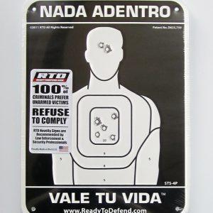 ON SALE! - Super-Tough HDPE Sign - Spanish - NADA ADENTRO VALE TU VIDA™-0